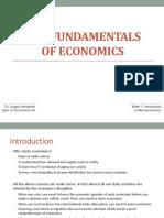 Week 01-The Fundamentals of Economics