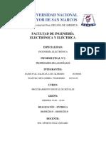 Informe Final 2 Pds - FIEE UNMSM