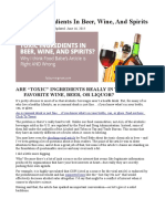 """""""Toxic"""" Ingredients in Beer, Wine, And Spirits"""