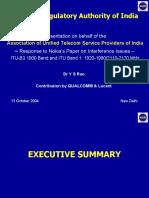 AUSPI Presentation to TRAI on Spectrum Response to COAI