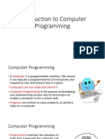 Lecture1 - Introduction to Computer Programming