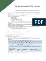 OData Service in SAP Fiori Server