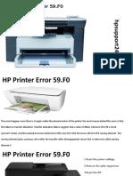 HP Printer Error 59f0
