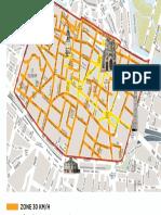 Plan de la zone 30 de la ville d'Amiens