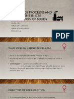 Methods, Processes, And Equipment in Size Reduction of Solids - 5ME2