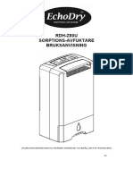 EchoDry dehydrater user manual Swedish
