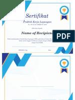 Certificate PKL1