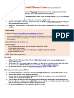 Incoming Fall 2019 Graduate Students Instructions Letter