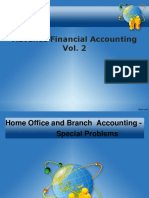 Home Office and Branch Accounting Special Problems