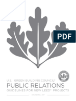 Public Relations  Guidelines for New LEED Projects