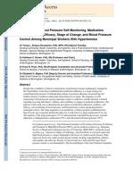 Tonya 2013 Prevalence of Blood   Pressure Self-Monitoring, Medication Adherence