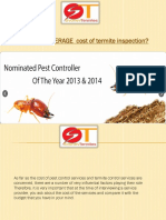 What is the AVERAGE Cost of Termite Inspection?