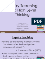 Inquiry Teaching and Hots
