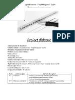 1 Proiect Didactic Organizarea Resurselor Umane