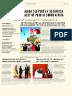 Boletín Informativo No 4 Julio - Agosto 2019