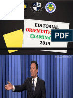 Editorial Orientation and Examination