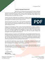 2019-09-11 Spoken Language Endorsement