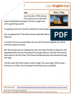 Short Stories Story Time the Lion and the Mouse Transcript