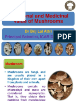 Medicine value of the mushroom