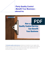 How a Third Party Quality Control Service Can Benefit Your Business - ET2C International Inc