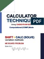 1 Computational Mode Caltech