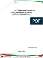 Informe Mantenimiento de La Piscina Semiolimpica