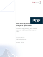 Loylogic - FFP White Paper Reinforcing the Value of Frequent Flyer Miles