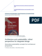 BUY BOOK_ Architecture and Sustainability- Critical Perspectives for Integrated Design