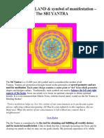 The PINEAL GLAND & Symbol of Manifestation – the SRI YANTRA