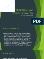 Income Tax Basic Definitions and Terms