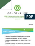 2008 Printable Coupon Consumer Pulse