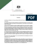 Summary Miller v the Prime Minister