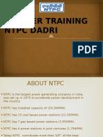 NTPC DADRI Training Ppt