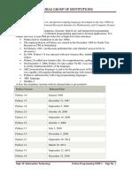 Python Programming Notes- UNIT-I