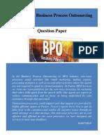 Non-Voice BPO Question Paper