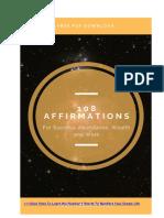 List of Positive Affirmations PDF