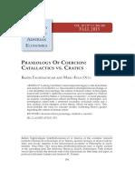 Praxeology of Coercion Catallactics vs Cratics.pdf