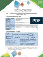 Guía de Actividades y Rúbrica de Evaluación - Paso 1 - Construir Un Documento Colaborativo de Reconocimiento y Del Concepto Salud (1)