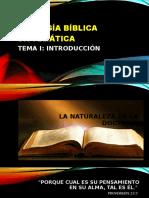 Teología Bíblica Sistemática Tema i