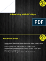 gold's gym presentation