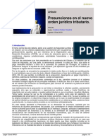 Presunciones en el nuevo orden jurídico tributario