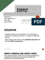 Supply in Economics