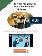 Curso de Auto Maquiagem Profissional Online Para Iniciantes - PDF
