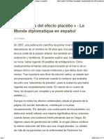 «Paradojas Del Efecto Placebo» - Le Monde Diplomatique en Español