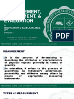 Prof Ed 5 02. Measurement Assessment and Evaluation