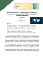 Escenario Multilingüe Poroso y de Disputa Territorial La Comunicacin Con Identidad en FM Comunitaria La Voz Indgena de Tartagal