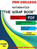 Xii Maths Scrap Book