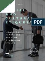 - Social and Cultural Etiquette 2 20