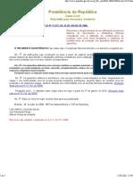 Lei nº 11.337 - 26.07.06 - Obrigatoriedade do sistema de aterramenteo