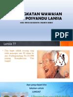 Ppt Materi Posyandu Lansia